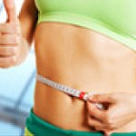 Medical Weight Loss symbol of woman measuring thin waistline